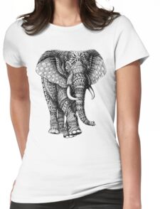 Ornate Elephant v.2 Womens Fitted T-Shirt
