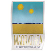 Magrathea Travel Poster Poster
