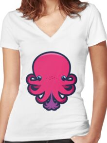 Terrence the octopie - Happy Ink! Women's Fitted V-Neck T-Shirt