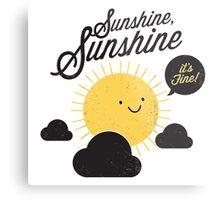 Sunshine It's Fine Metal Print