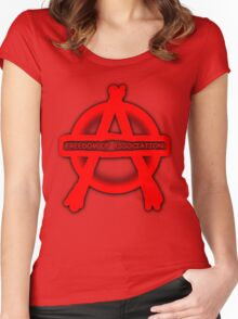 Anarchy Freedom Of Association Women's Fitted Scoop T-Shirt