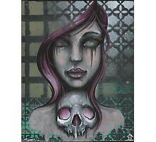 zombie skull girl tattoo art painting Photographic Print
