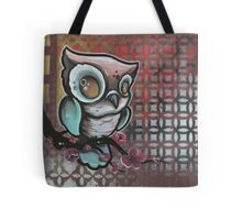 owl & cherry blossom original tattoo art Tote Bag