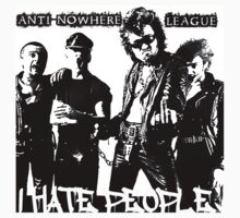 Anti-Nowhere League I Hate People by smilku