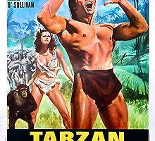 Tarzan The Apeman Vintage Foreign Promo Art w/ Johnny Weissmuller by TrueLoveTees