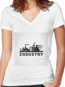 Industry Women's Fitted V-Neck T-Shirt