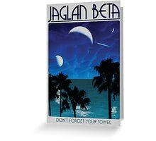 Jaglan Beta Travel Poster Greeting Card