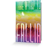 Fallia Travel Poster Greeting Card
