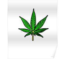 Basic Pot Leaf Poster