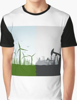 Nature against the industry Graphic T-Shirt