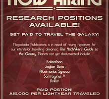 Megadodo Hiring Poster by knolster