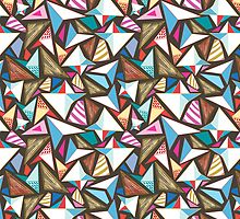 abstract pattern with origami  by Tanor