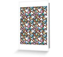 abstract pattern with origami  Greeting Card