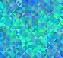 Abstract angle background from triangles in blue and turquoise by amovitania