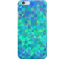 Abstract angle background from triangles in blue and turquoise iPhone Case/Skin