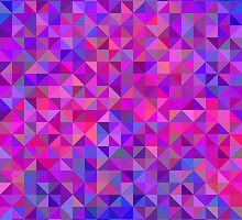 Abstract angle background in pink, blue and violet by amovitania