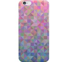 Abstract background from triangles in shades of pink and blue iPhone Case/Skin