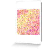 Abstract background from triangles in shades of pink and yellow Greeting Card