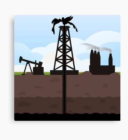 Oil recovery Canvas Print