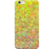 Abstract background from triangles in pink, yellow and green iPhone Case/Skin