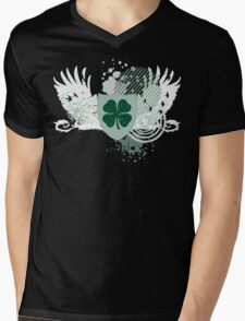hi-fi shamrock Mens V-Neck T-Shirt
