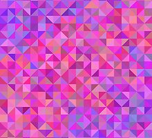 Abstract background from triangles in shades of violet and pink by amovitania