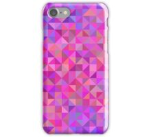 Abstract background from triangles in shades of violet and pink iPhone Case/Skin