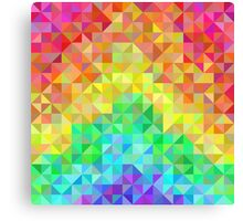 Abstract spectrum background from rainbow triangles Canvas Print