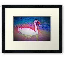 Surreal swan Framed Print