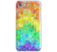 Abstract spectrum background from rainbow triangles iPhone Case/Skin