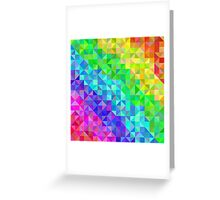 Abstract spectrum background from triangles Greeting Card
