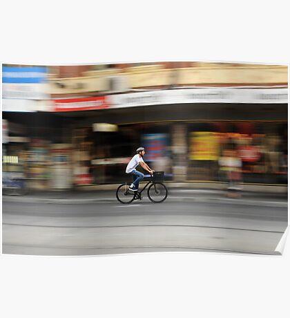 Brunswick st cyclist Poster
