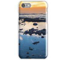 beautiful mellow sunset over rocky beach iPhone Case/Skin