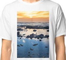 beautiful mellow sunset over rocky beach Classic T-Shirt