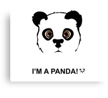 Panda style Canvas Print