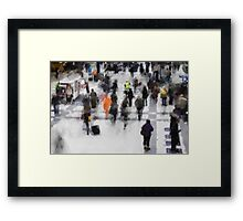 Commuter Art Abstract Framed Print