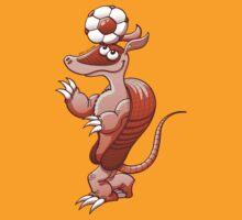 Nice armadillo balancing a soccer ball on its head by Zoo-co