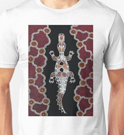 Aboriginal Art - Crocodile Authentic Designs Unisex T-Shirt