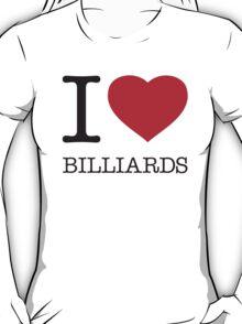 I ♥ BILLIARDS T-Shirt