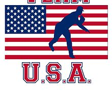 Baseball Pitcher American Flag Team USA by kwg2200