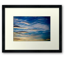 Cloud display at dusk Framed Print