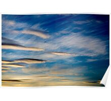 Cloud display at dusk Poster