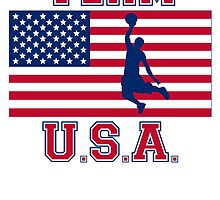 Basketball Dunk American Flag Team USA by kwg2200