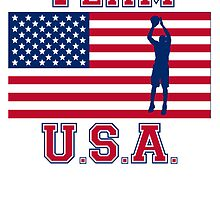 Basketball Jump Shot American Flag Team USA by kwg2200