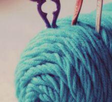 turquoise yarn Sticker