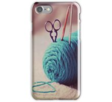 turquoise yarn iPhone Case/Skin