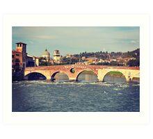 Ponte Vittoria, Verona Art Print