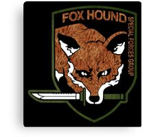 Fox hound logo 2.01 (fox pattern) Canvas Print
