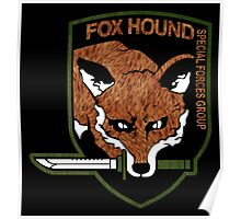 Fox hound logo 2.01 (fox pattern) Poster