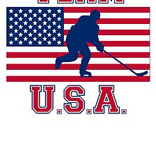 Hockey American Flag Team USA by kwg2200
